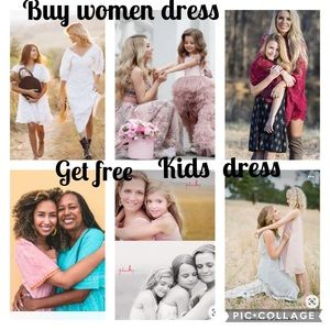 Buy one women's dress get one free kid's dress
